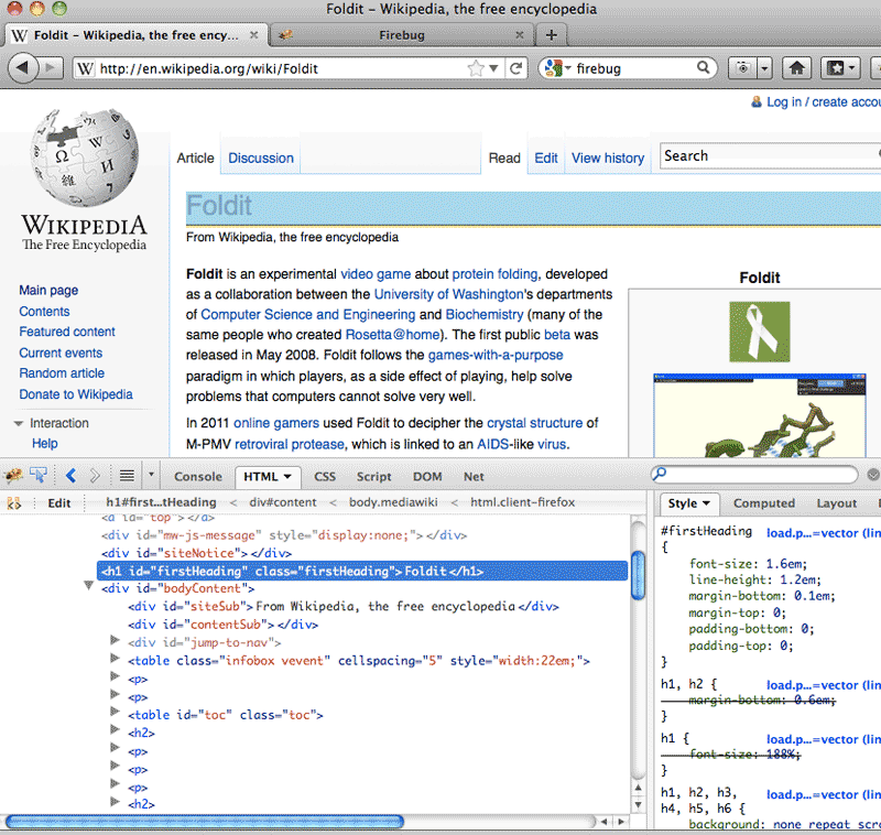 Foldit Wikipedia entry